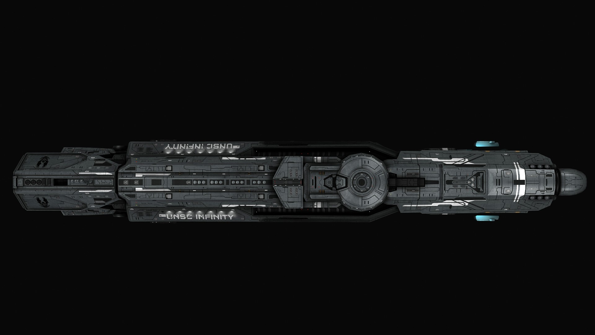 ArtStation - Sins of the Prophets: UNSC Infinity-class