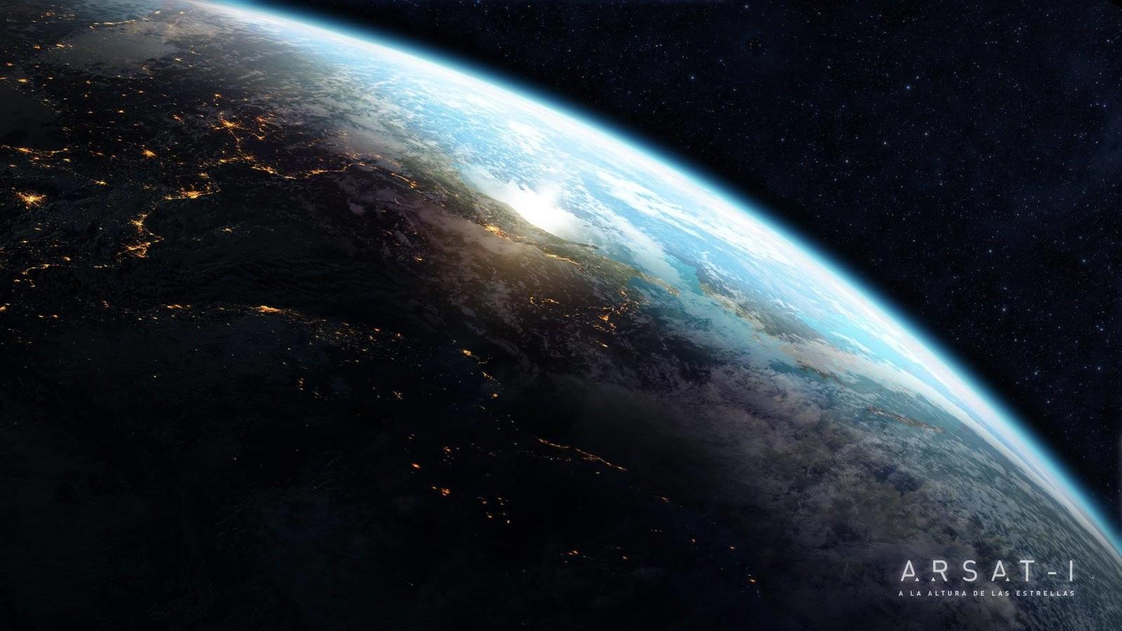 "Matte painting - ""ARSAT 1 A la altura de las estrellas"""