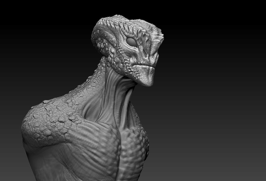 Adam milicevic zbrush lizard alien