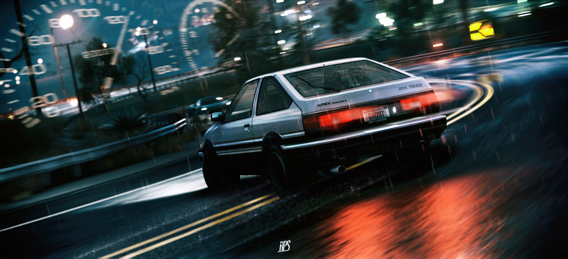 Artstation akina 39 s ghost kirill weinberg - Ae86 initial d wallpaper ...