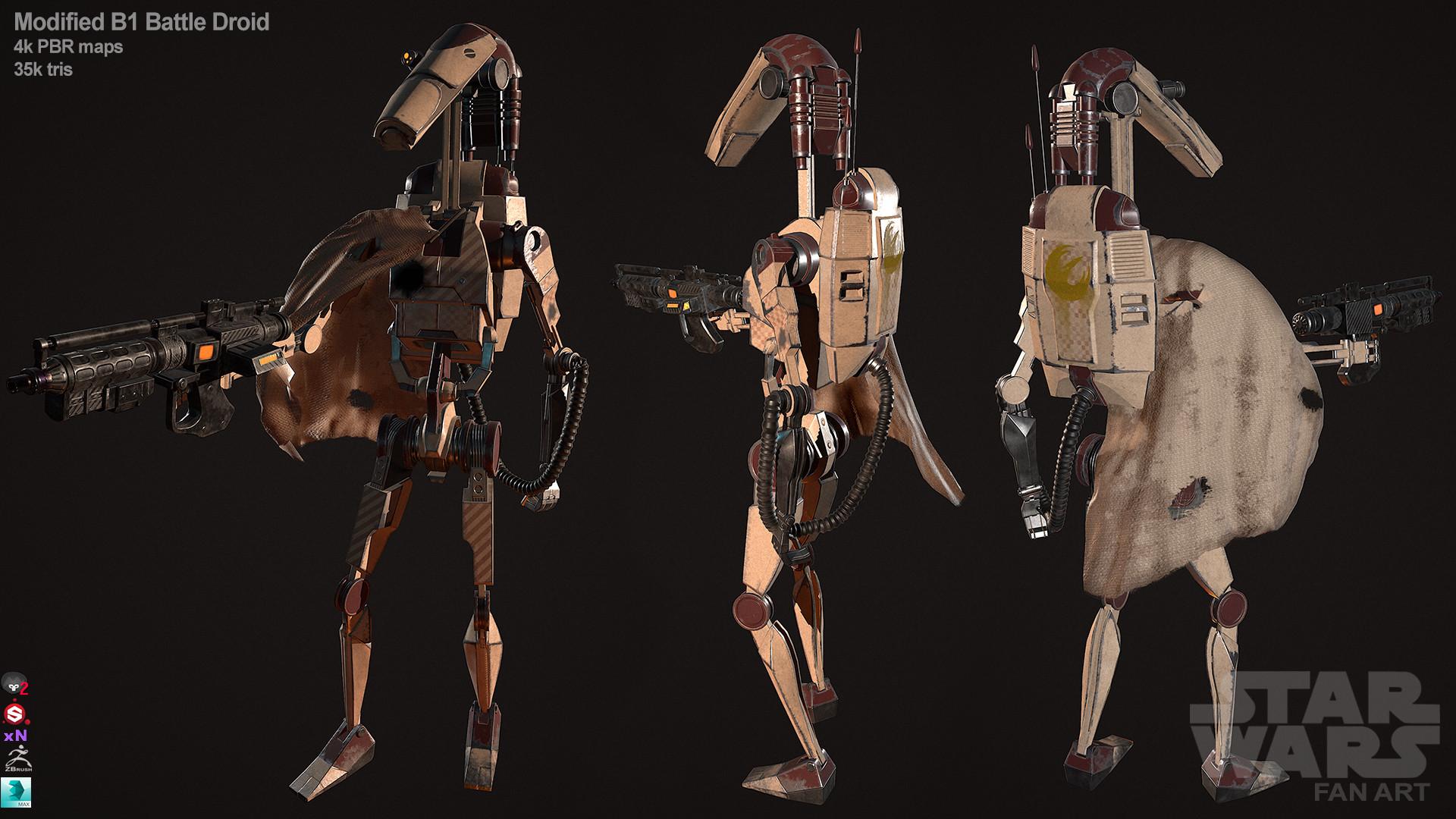 Calvin Simpson Modified B1 Battle Droid Star Wars