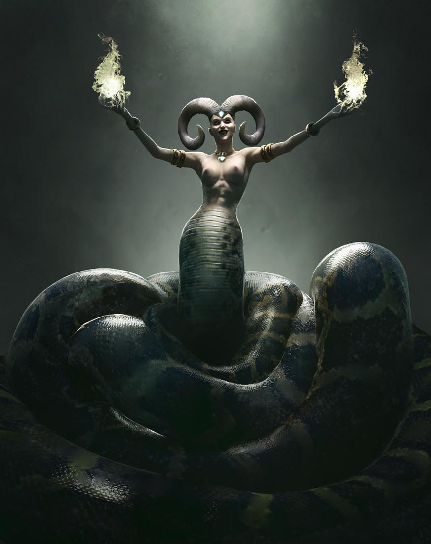 Mythic Battles Pantheon: Echidna (uncensored)