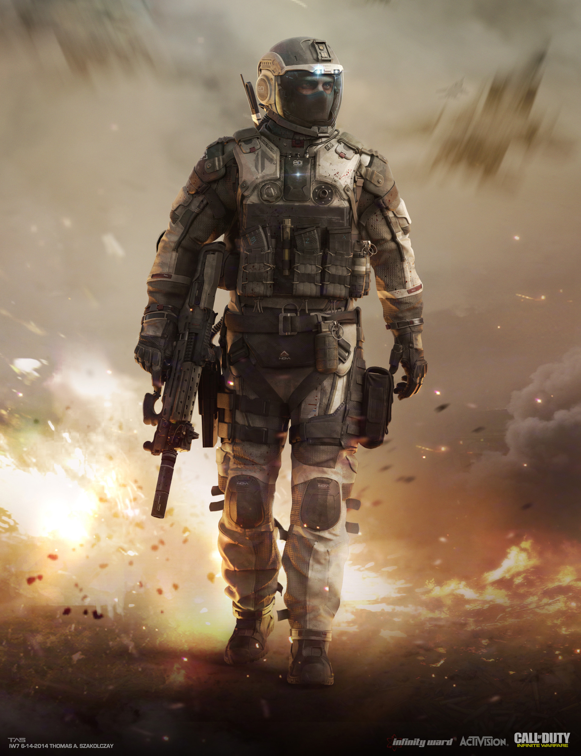 Some early look direction keyart for the SCAR pilot. Meant to be reminiscent of the Modern Warfare 2 cover.