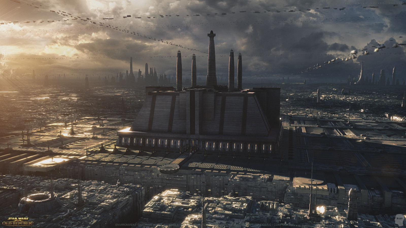 Star Wars: The Old Republic: Environment Shading / Lighting / Rendering / Compositing