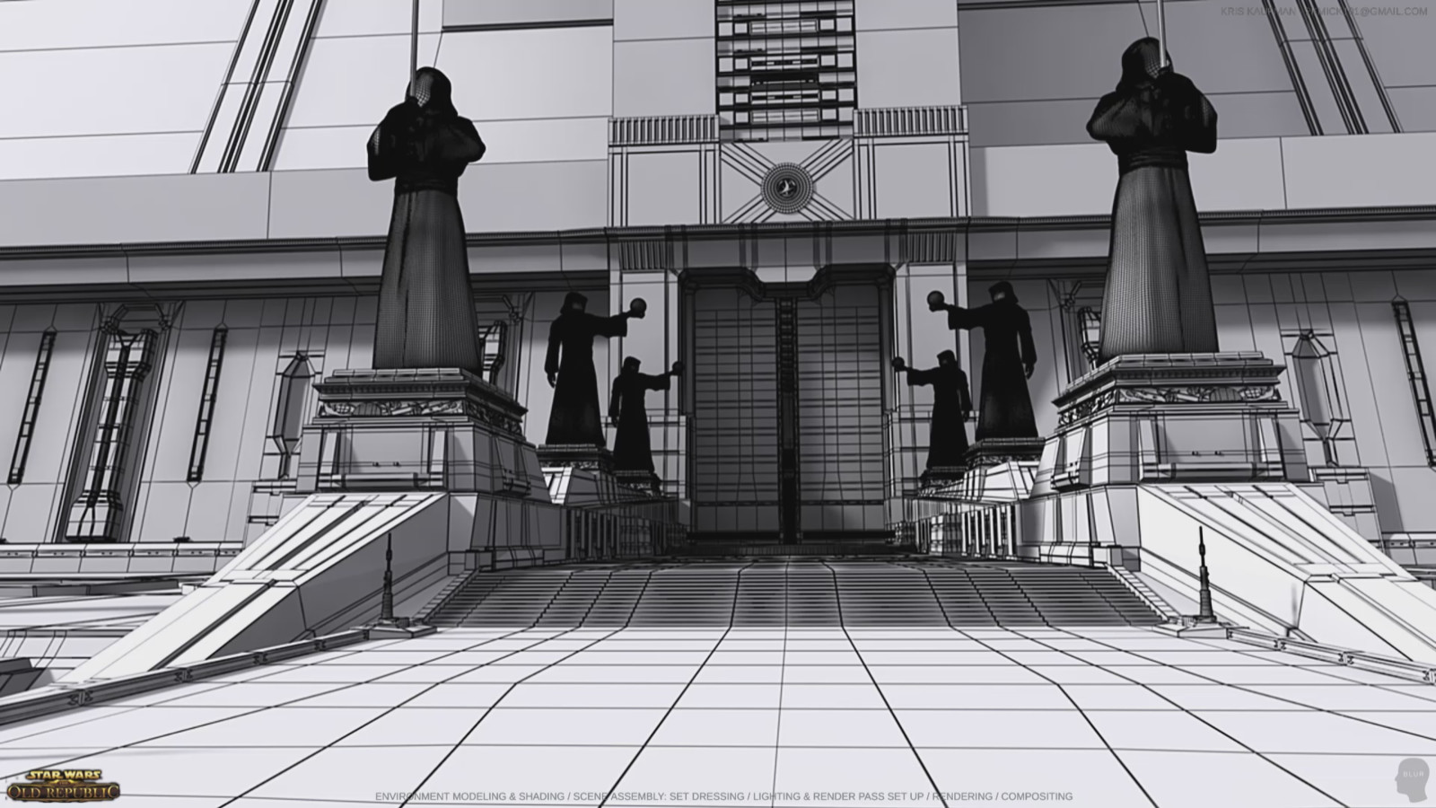 Star Wars: The Old Republic: Wireframe of Environment Modeling