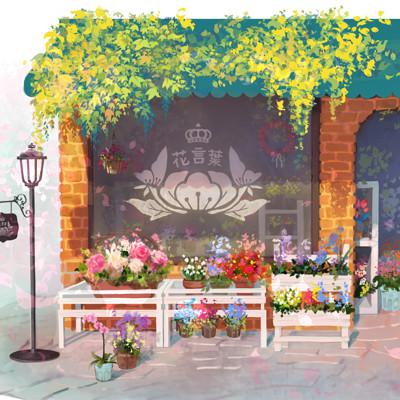 Fuwa hana banner artstation