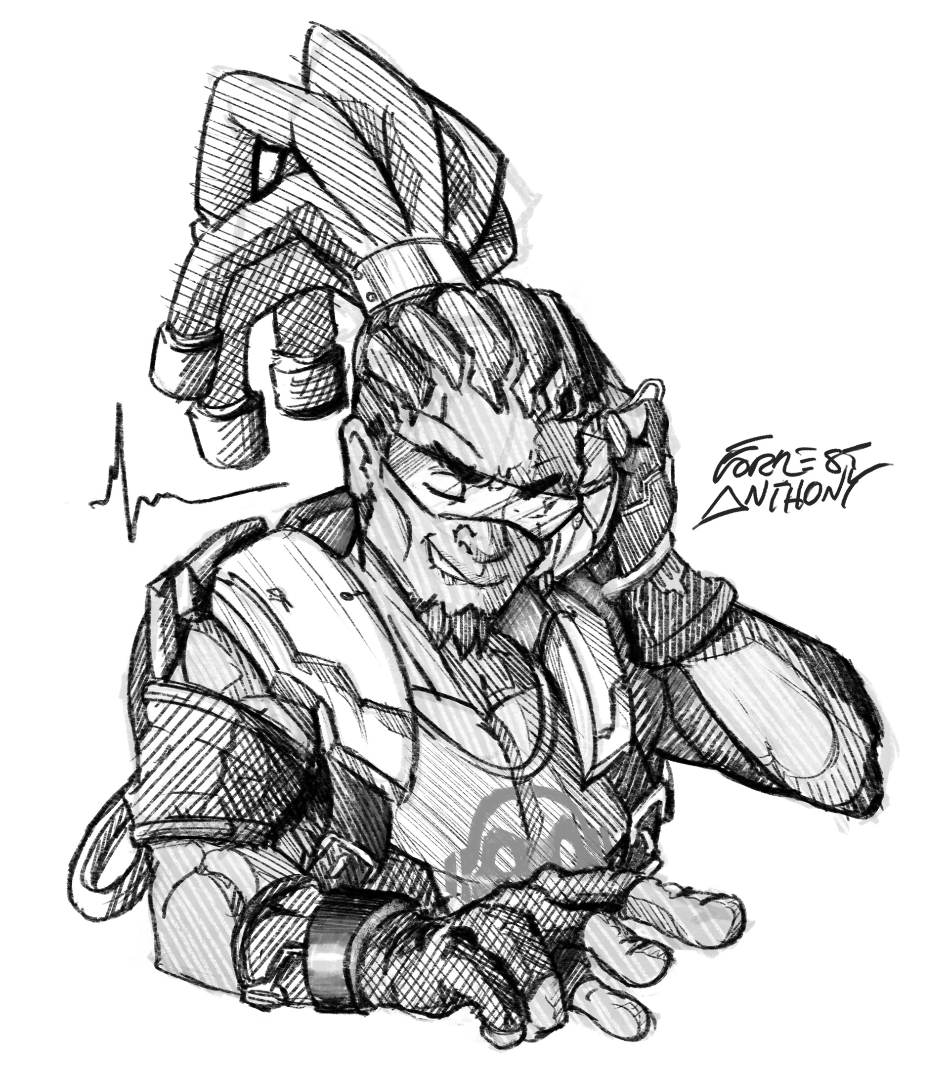 Forrest Anthony Overwatch Hero Sketches