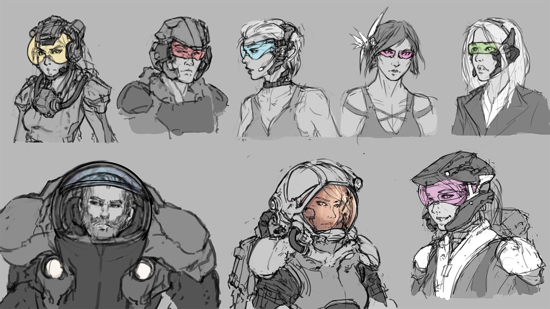 Haoqian pan wen concept sketches 01