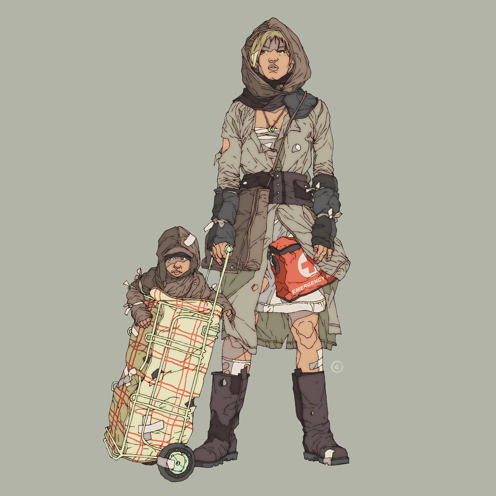 Calum Alexander Watt Post Apocalyptic Character Designs