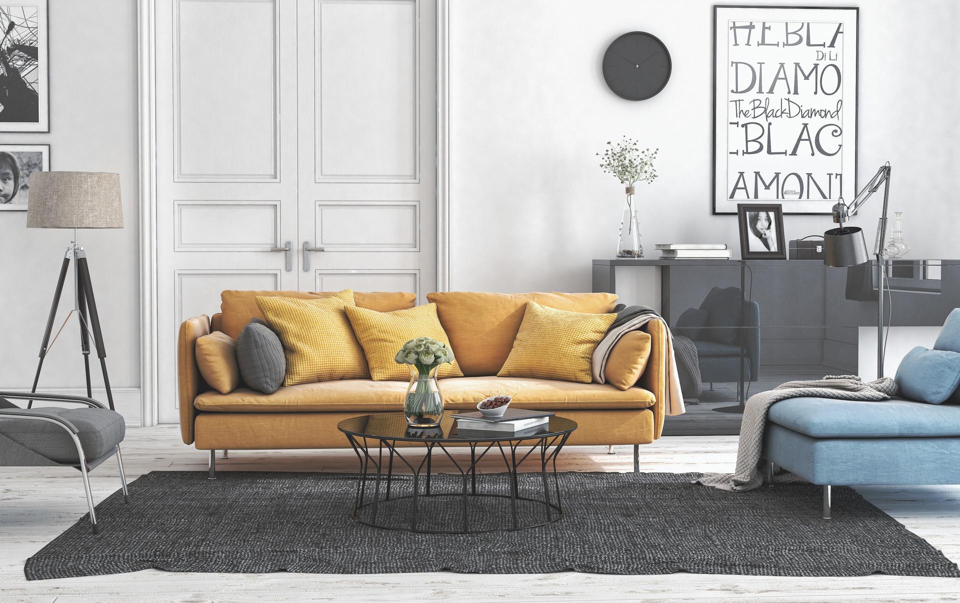 Ikea Living Room Photos 3d okulu - 3d okulu office work : ikea living room yellow sofa