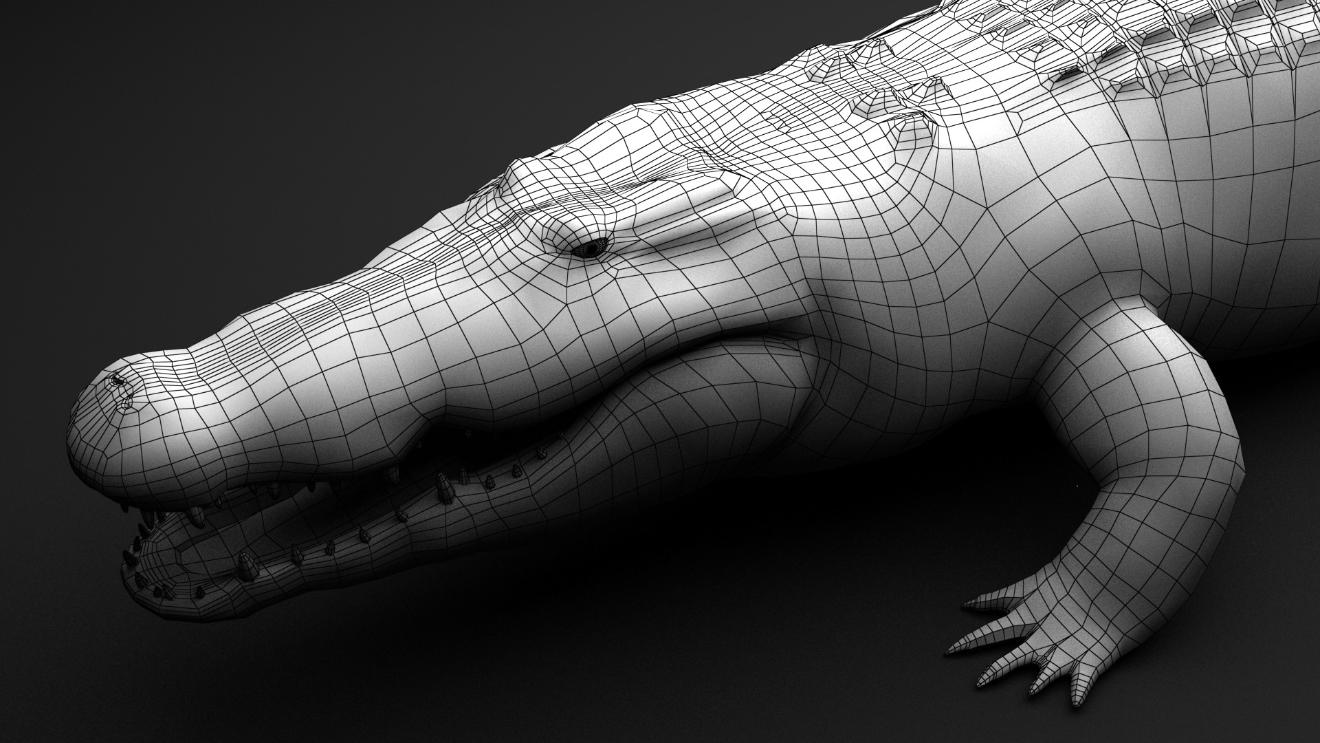 Dmytro Teslenko Crocodile modeling timelapse