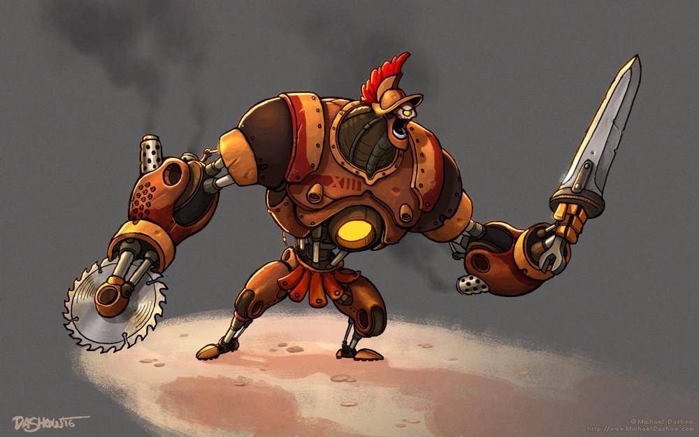 Michael dashow gladiator robot xiii 1000x625