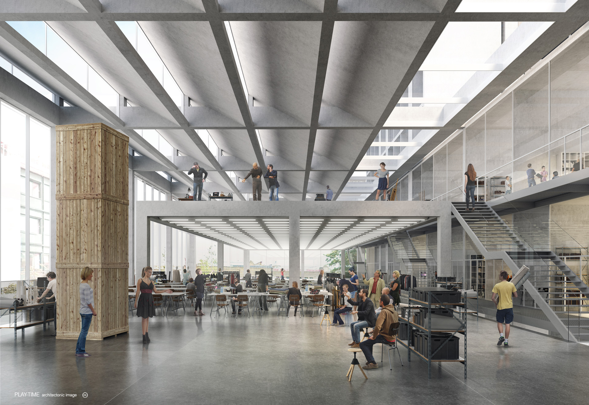 Play time architectonic image serie architects rca battersea south campus 02