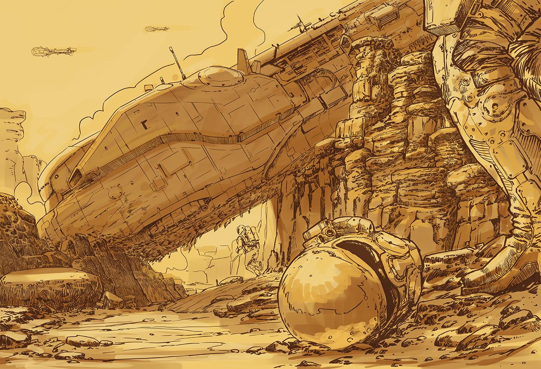 Jaroslaw marcinek crash site sketch23