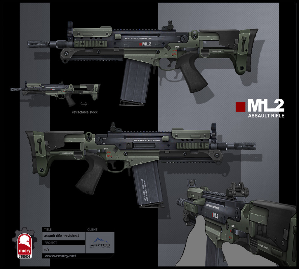 near future assault rifle - rmory studios