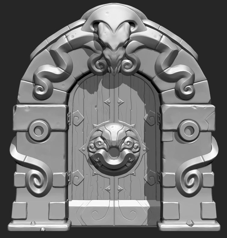 Creating 3D Game Props in Zbrush - Dungeon Door Part 1  sc 1 st  ArtStation & ArtStation - Lovecraftian Dungeon Door Tim Remmers