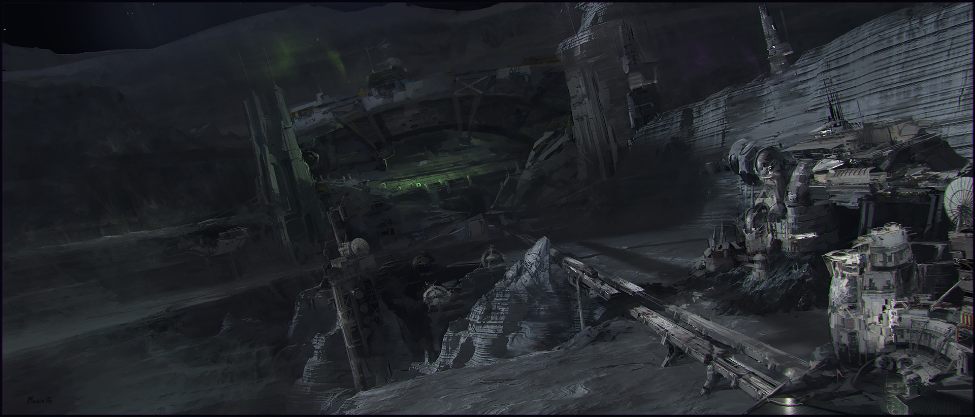 Sergey musin abandoned planet environment concept