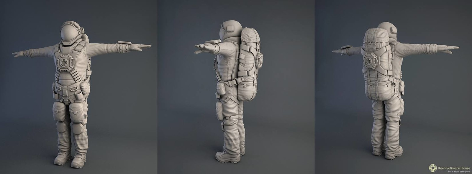 Astronaut high poly - Space Engineers game - 2013