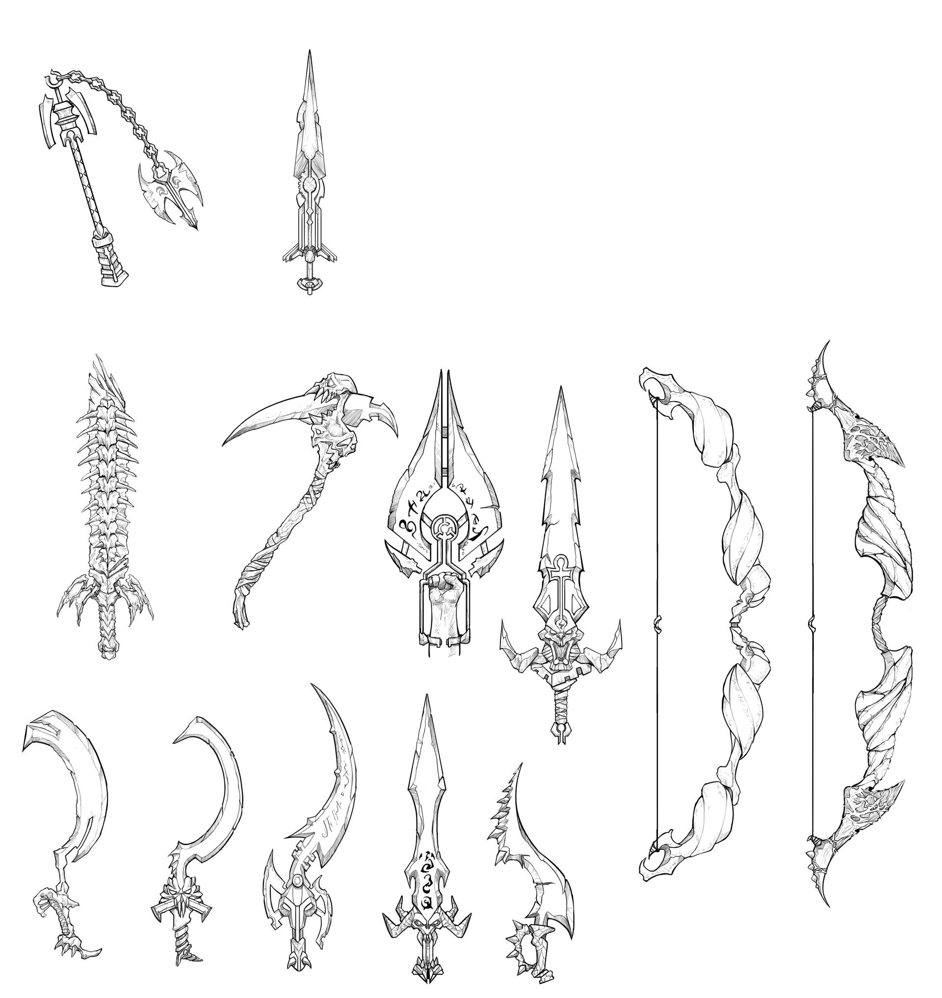 Peter rocque weapons sketch