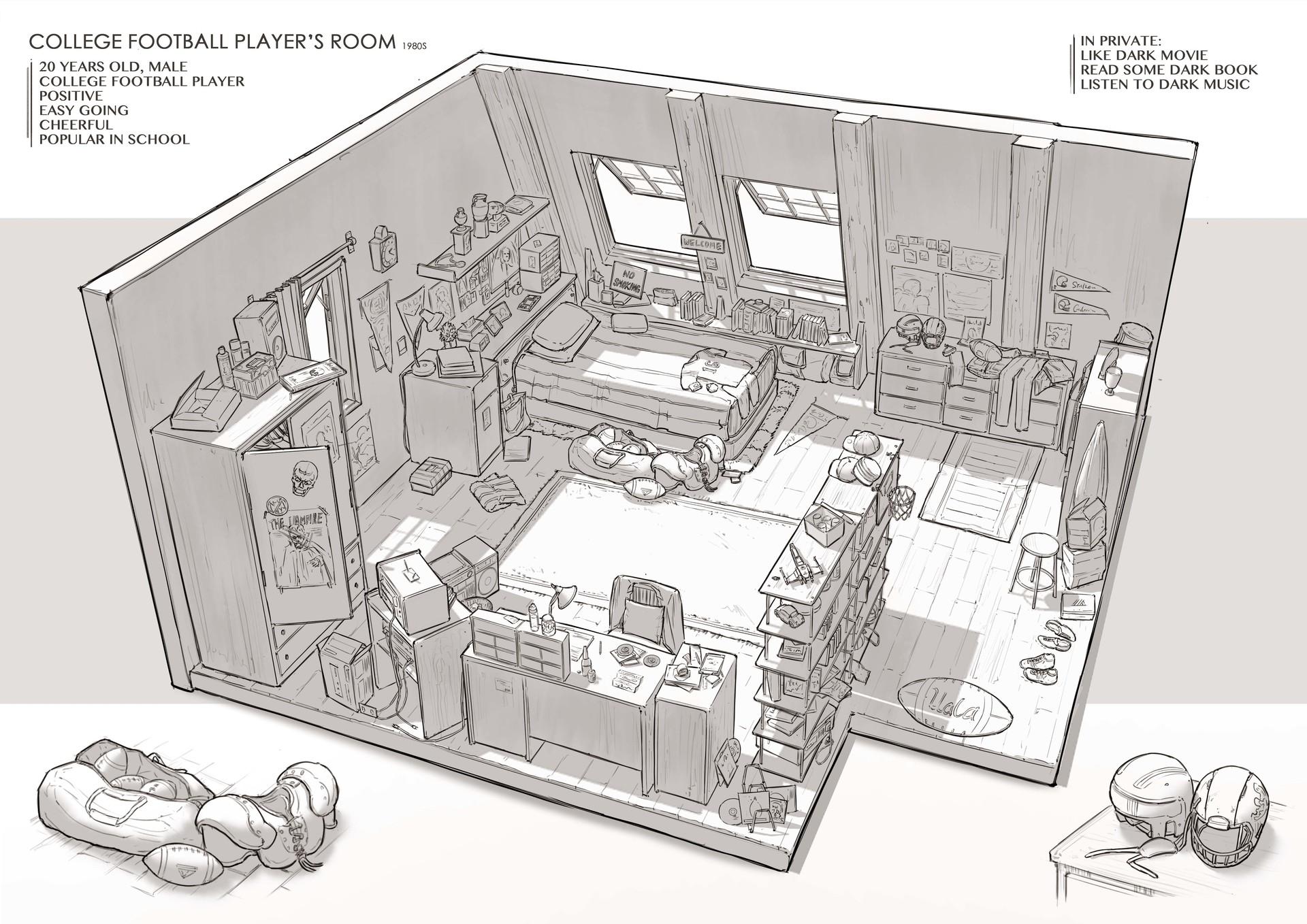 Artstation Fantasy Room Prop Design Chang Wei Chen
