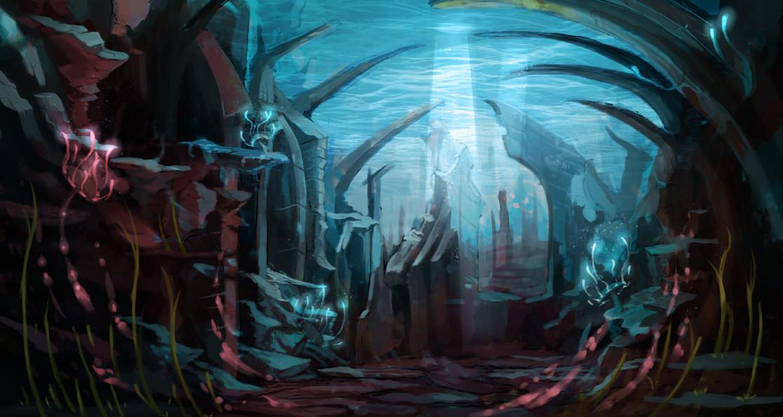 Underwater Ruin - Commissioned Work
