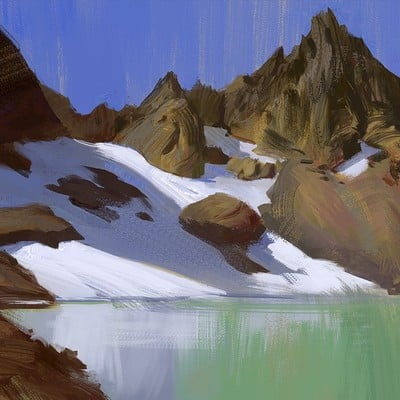 Hugo puzzuoli montagne blue