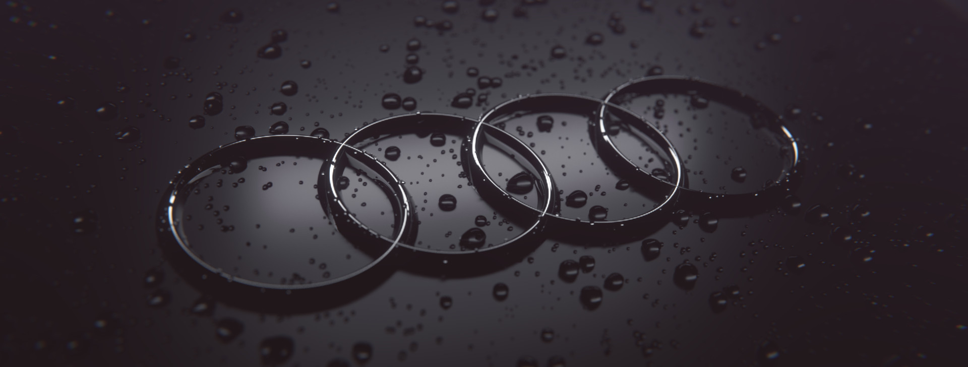 Jay Tailor Audi Logo With Water Drops