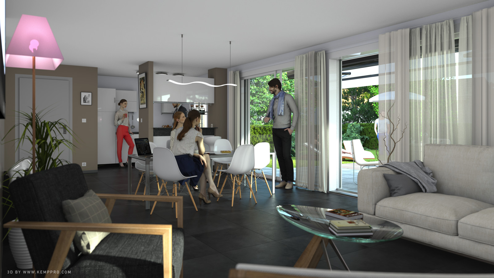 SketchUp + Thea Render.  House model test 2-Scene 12.img Full 3_KP. Presto AO HD 5333 × 3000.