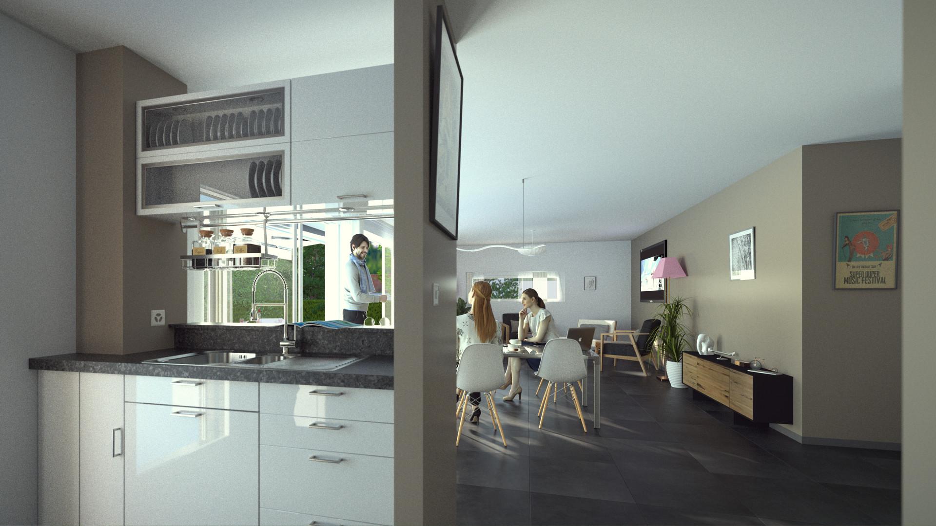 Duane kemp house model test 2 scene 8 kitchen living rm 2pt ext combined
