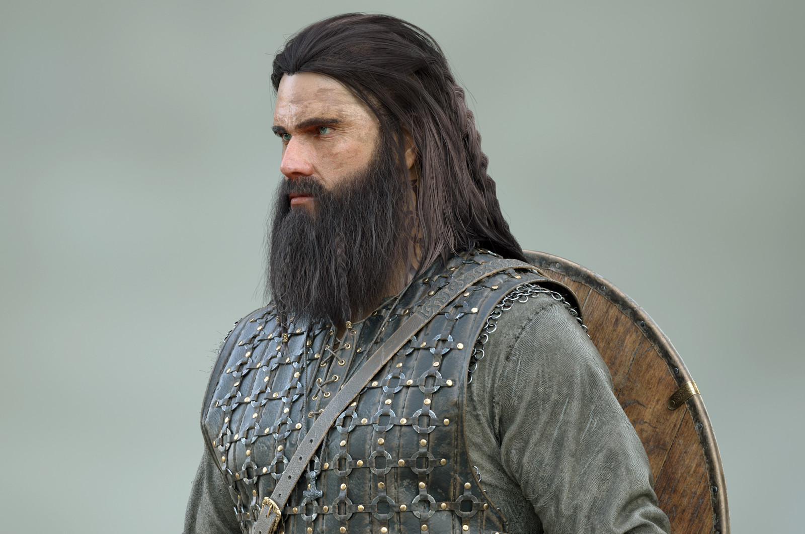Viking model render.