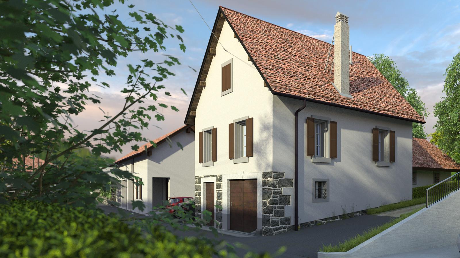 SketchUp + Thea Render  Little Swiss House Scene 28 161-hdri-skies 01 HD 1920 x 1080 Presto MC  HDR by HDRI-SKIES found here: http://hdri-skies.com/shop/hdri-sky-161/