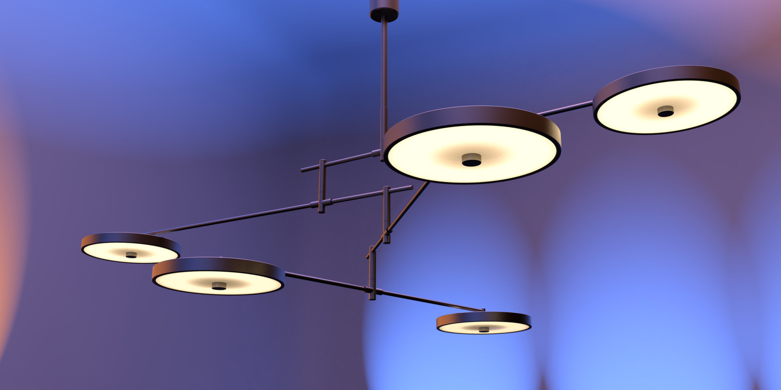 SketchUp + Thea Render Holly Hunt Lamp by DK detail 04