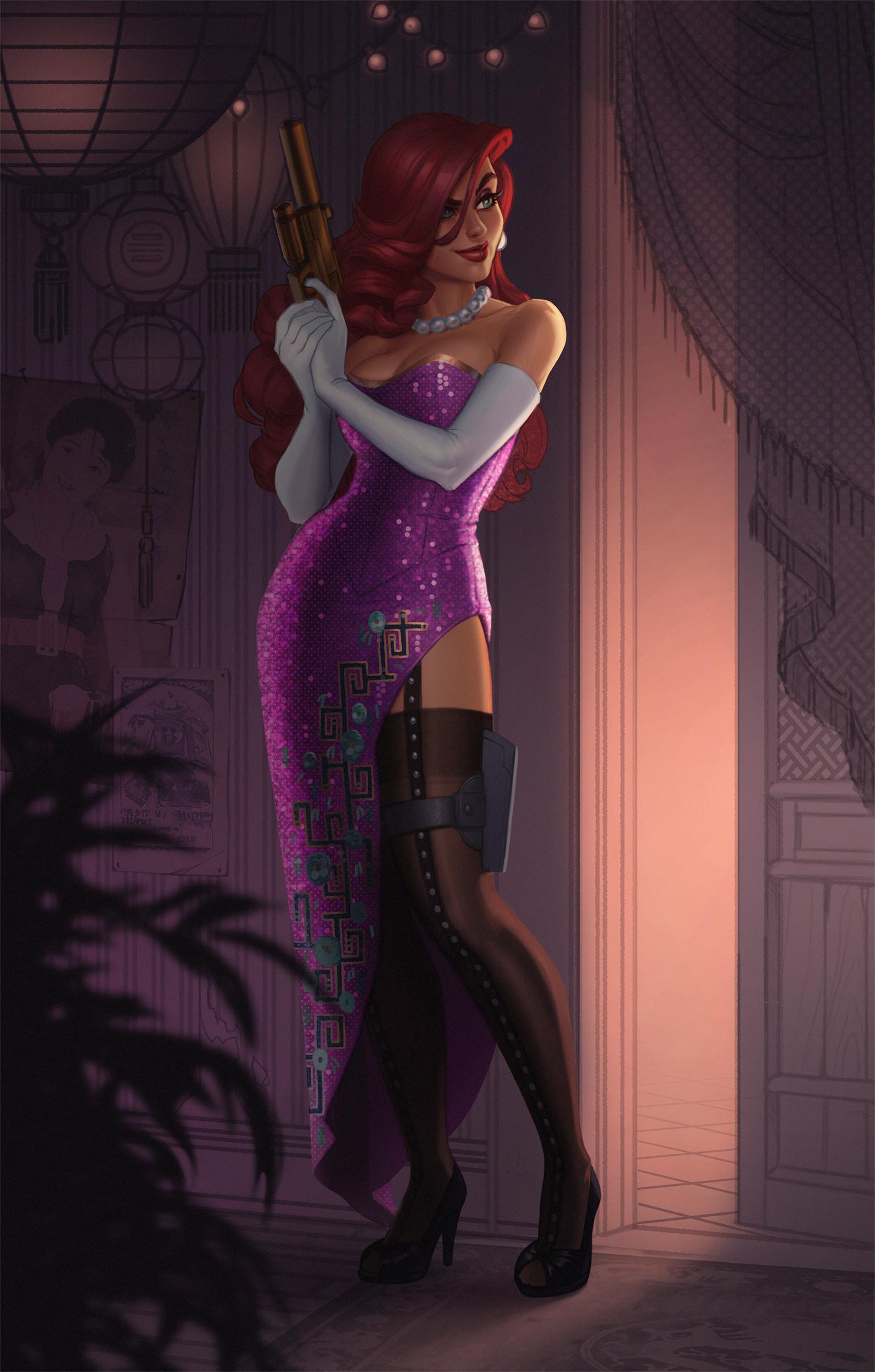 Artstation - Secret Agent Miss Fortune, Jessica Oyhenart-5024
