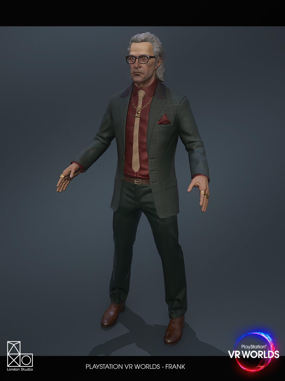 Frank, London Heist, in-game model