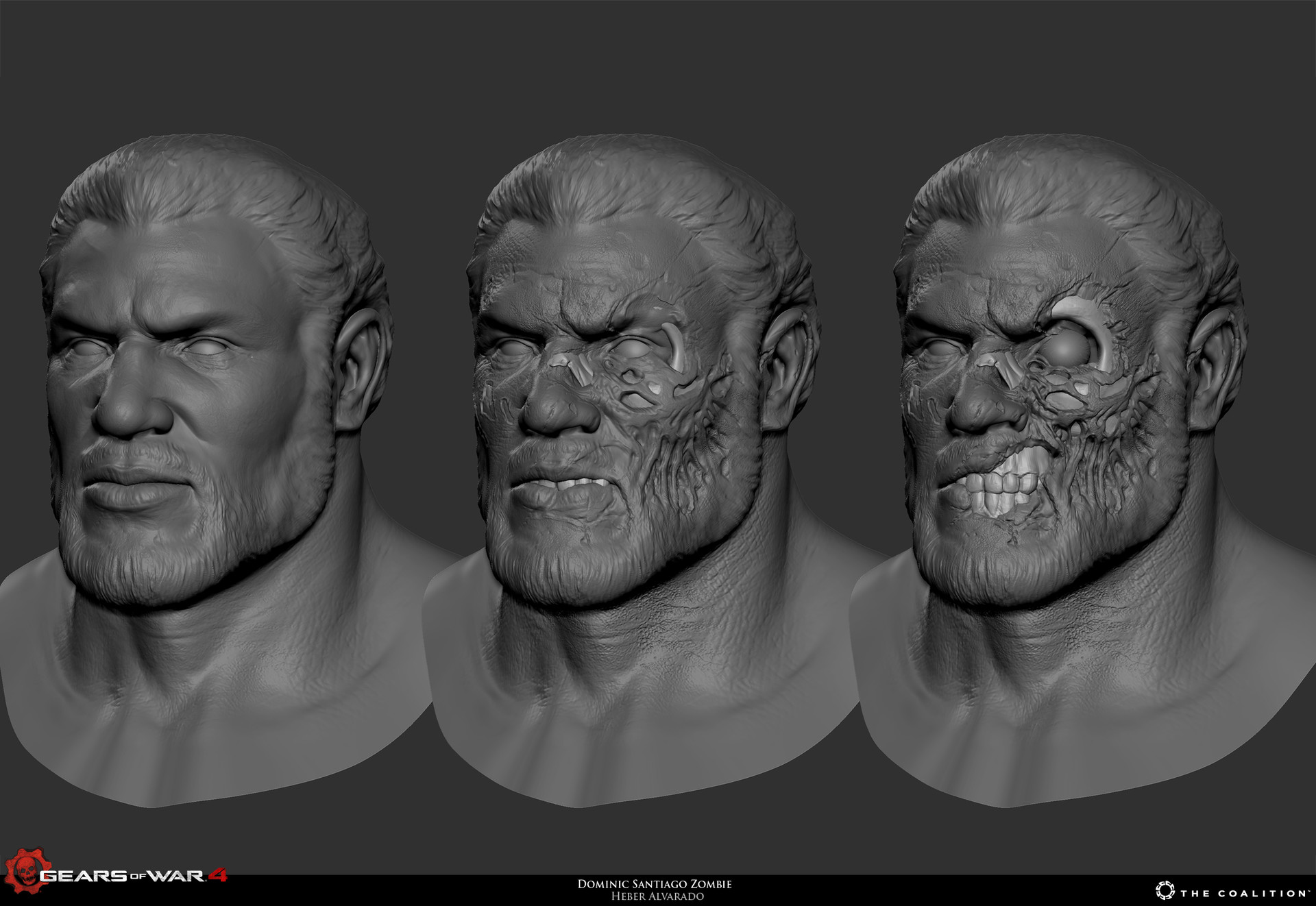 Artstation Old Hoffman Dom Zombie Mp Skin Gears Of War 4