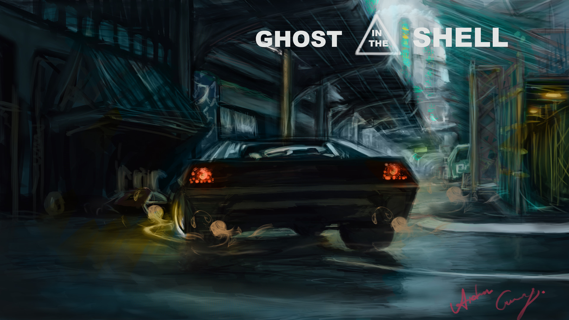 Artstation Ghost In The Shell Batou Lotus Esprit Static Animation Aiden G