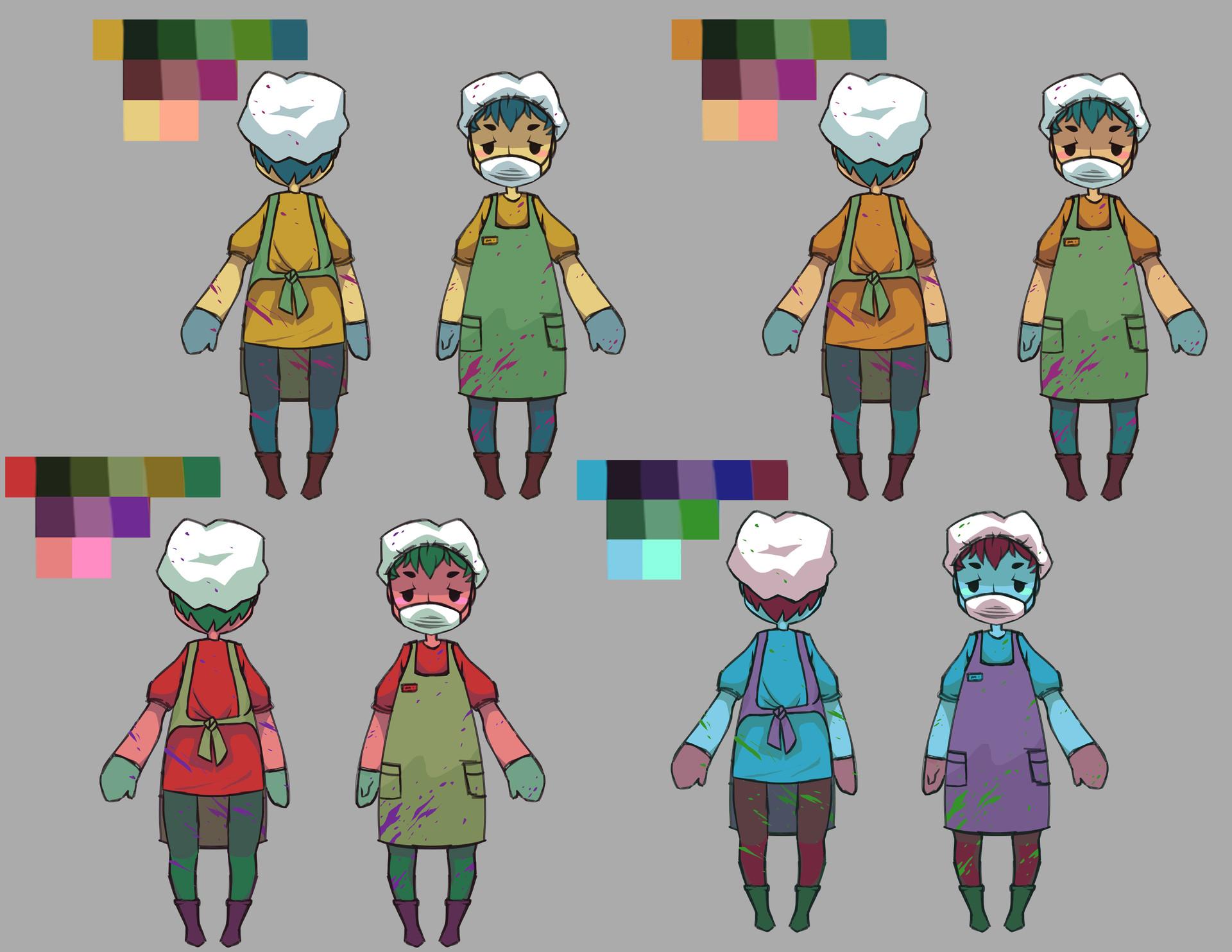 Sonja larosa 3d characterconcept turnaround colorvariants 1