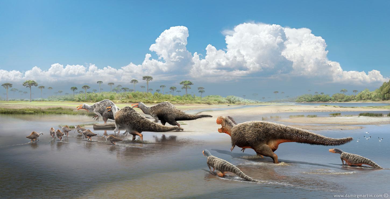Deinocheirus and Tarbosaurus