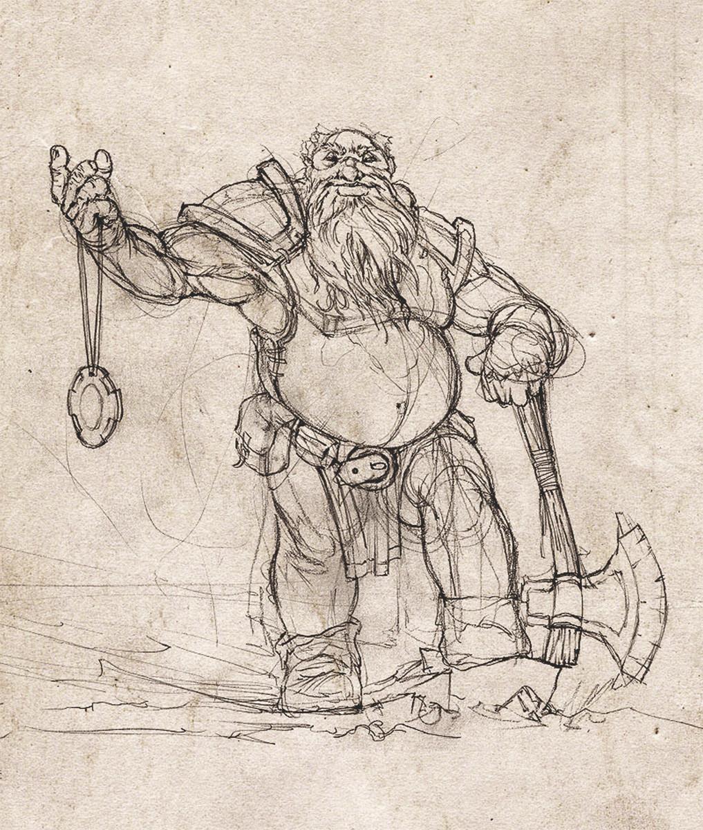 Grzegorz rutkowski dwarf sketch