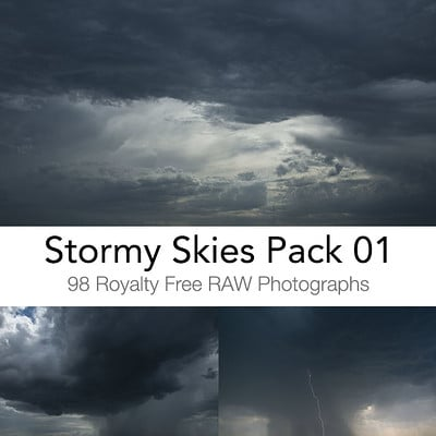Gumroad Photo Ref pack - Stormy Skies