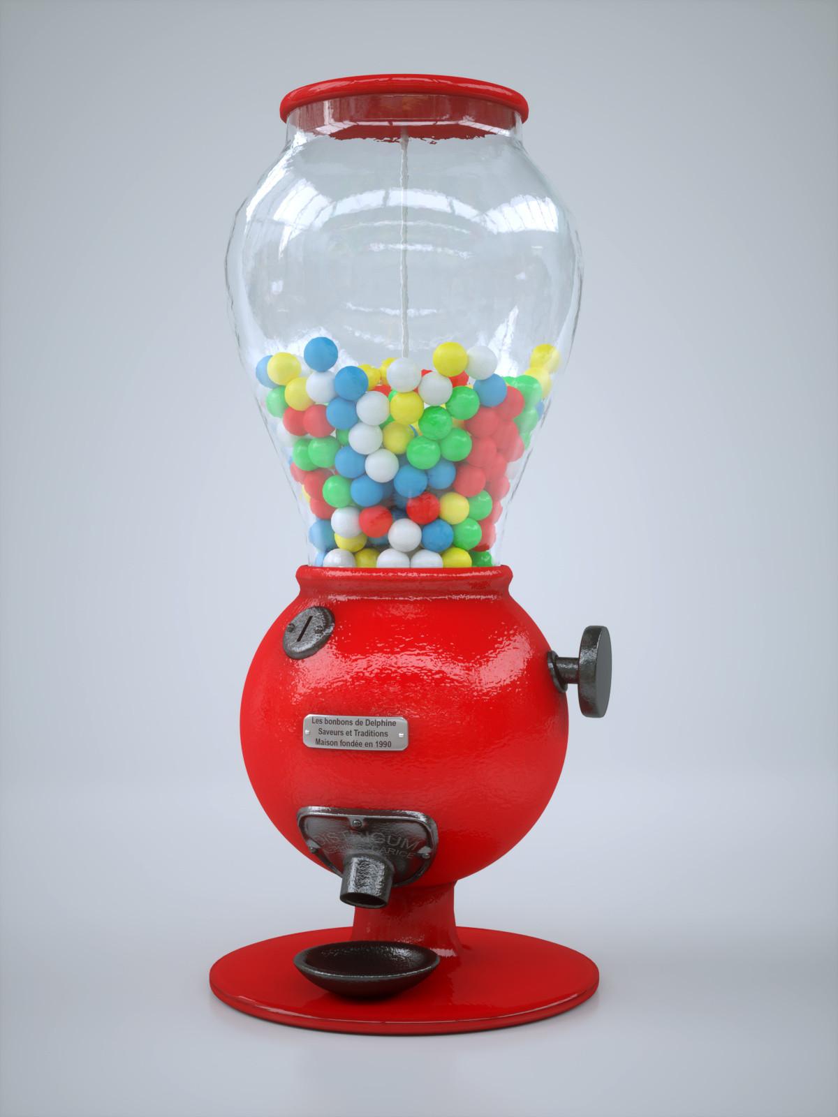 Old fashioned bubble gum machine 1