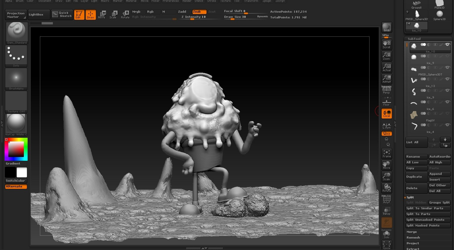 Zbrush Interface, making some details