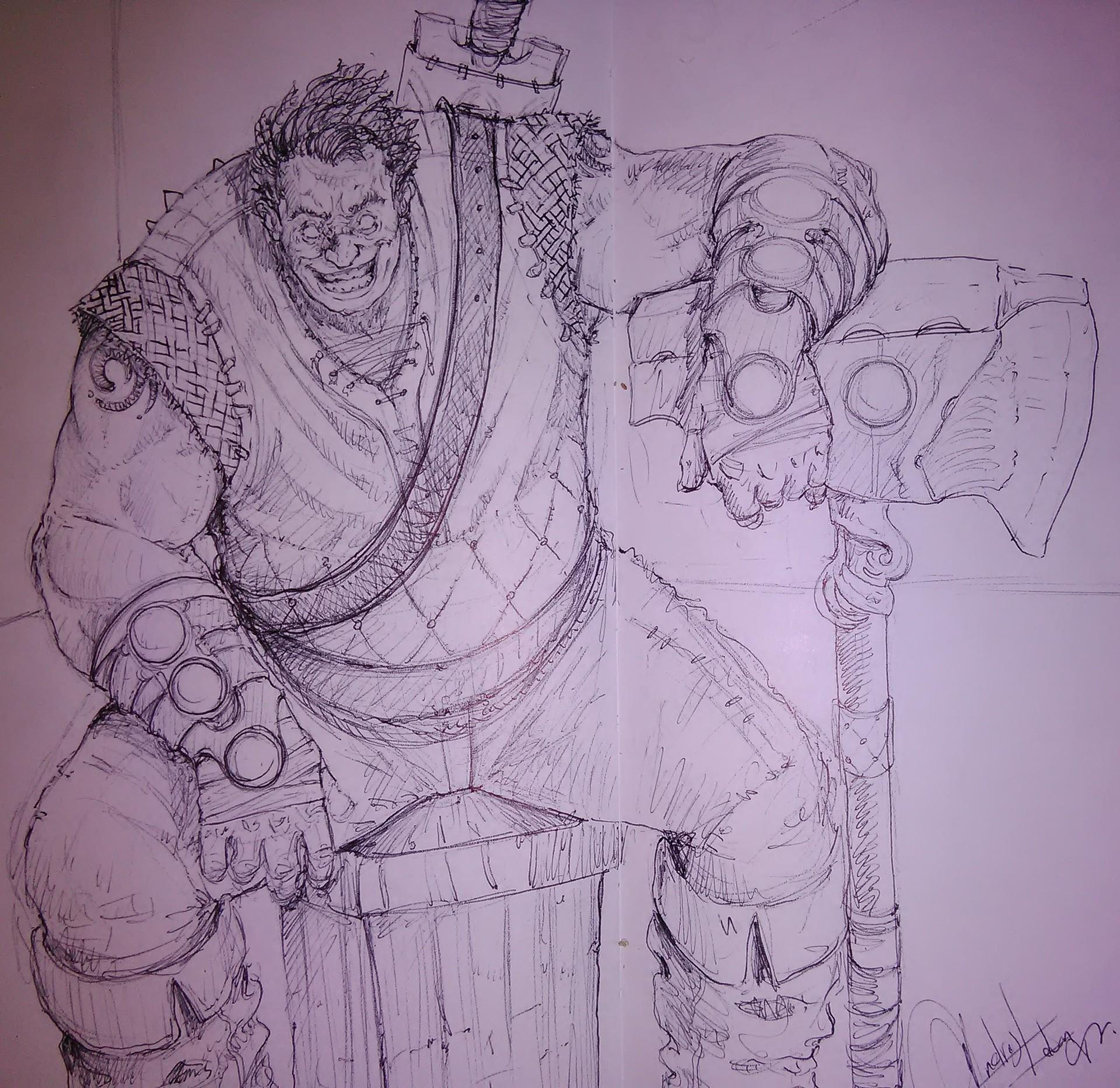 Andres menza andres menza sketch demente warrior