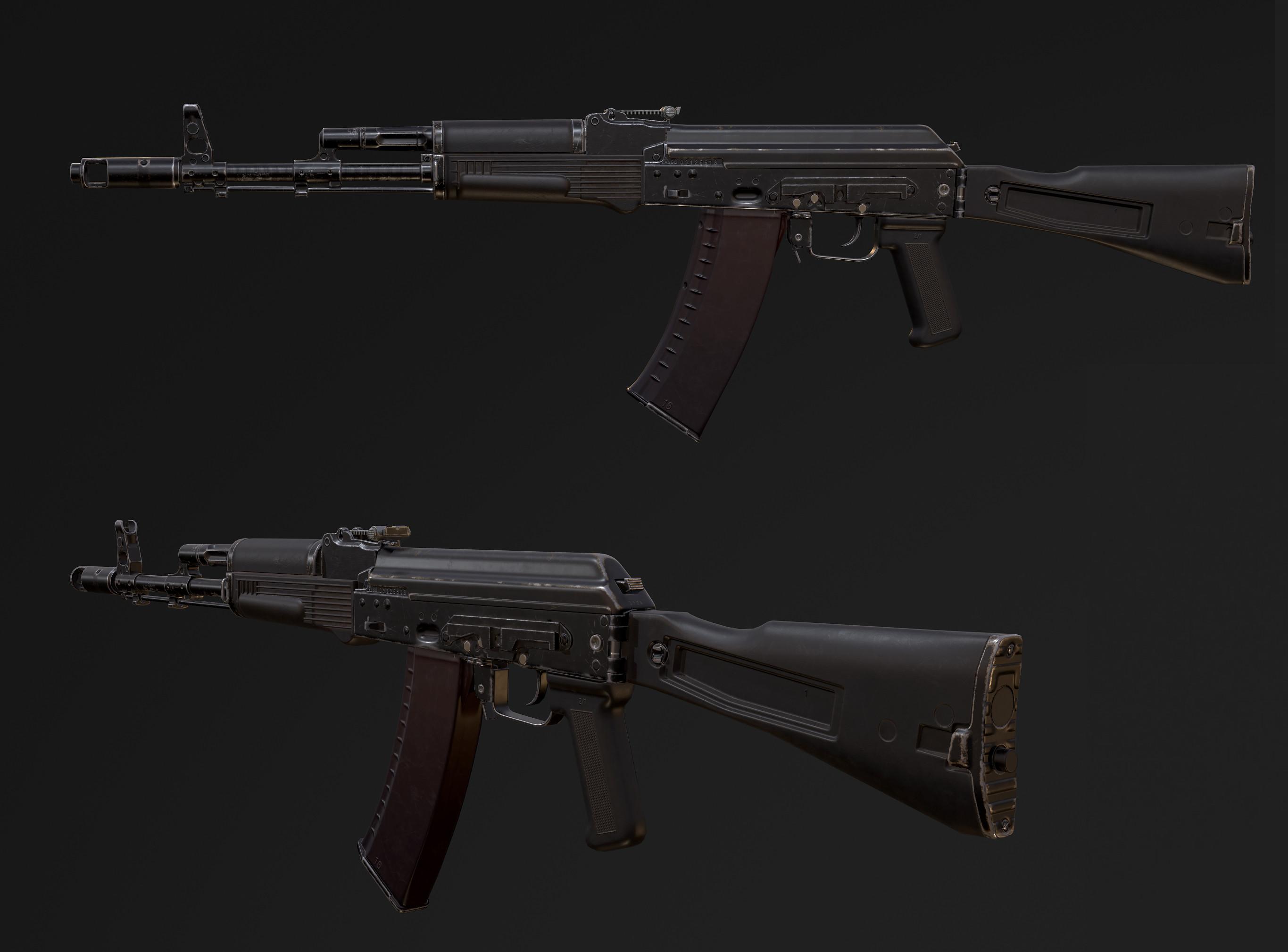 AK74. Final Shot.  Unity3D. Real-time.