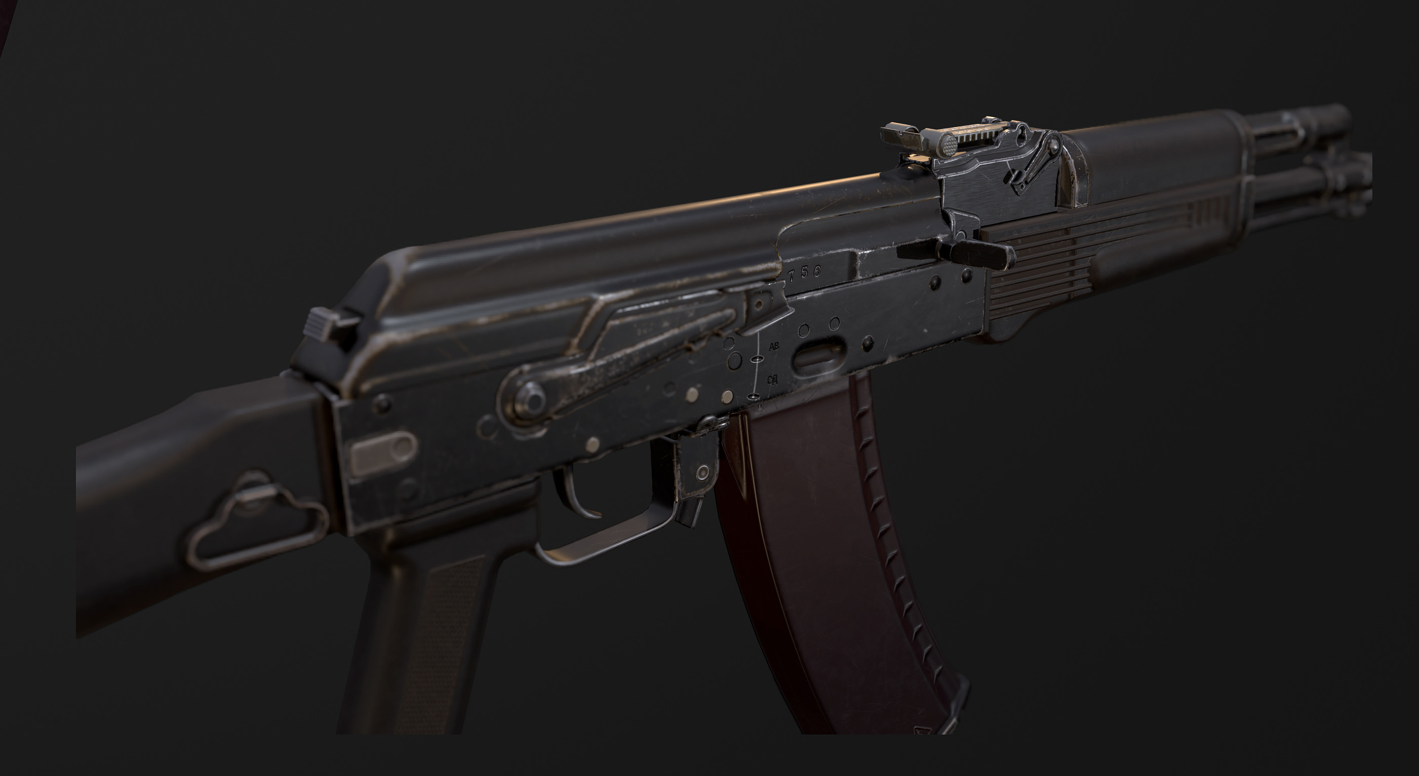 AK47. Real-time. Unity3D. Close-up 4