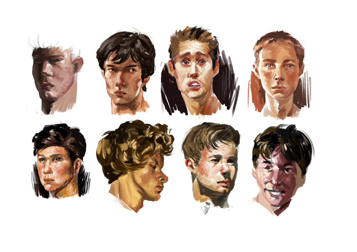 Douglas deri face studies