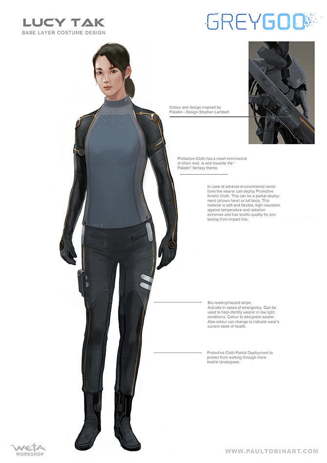 Lucy Tak base suit designs