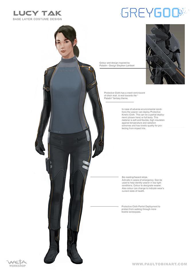 Lucy Tak base suit designs