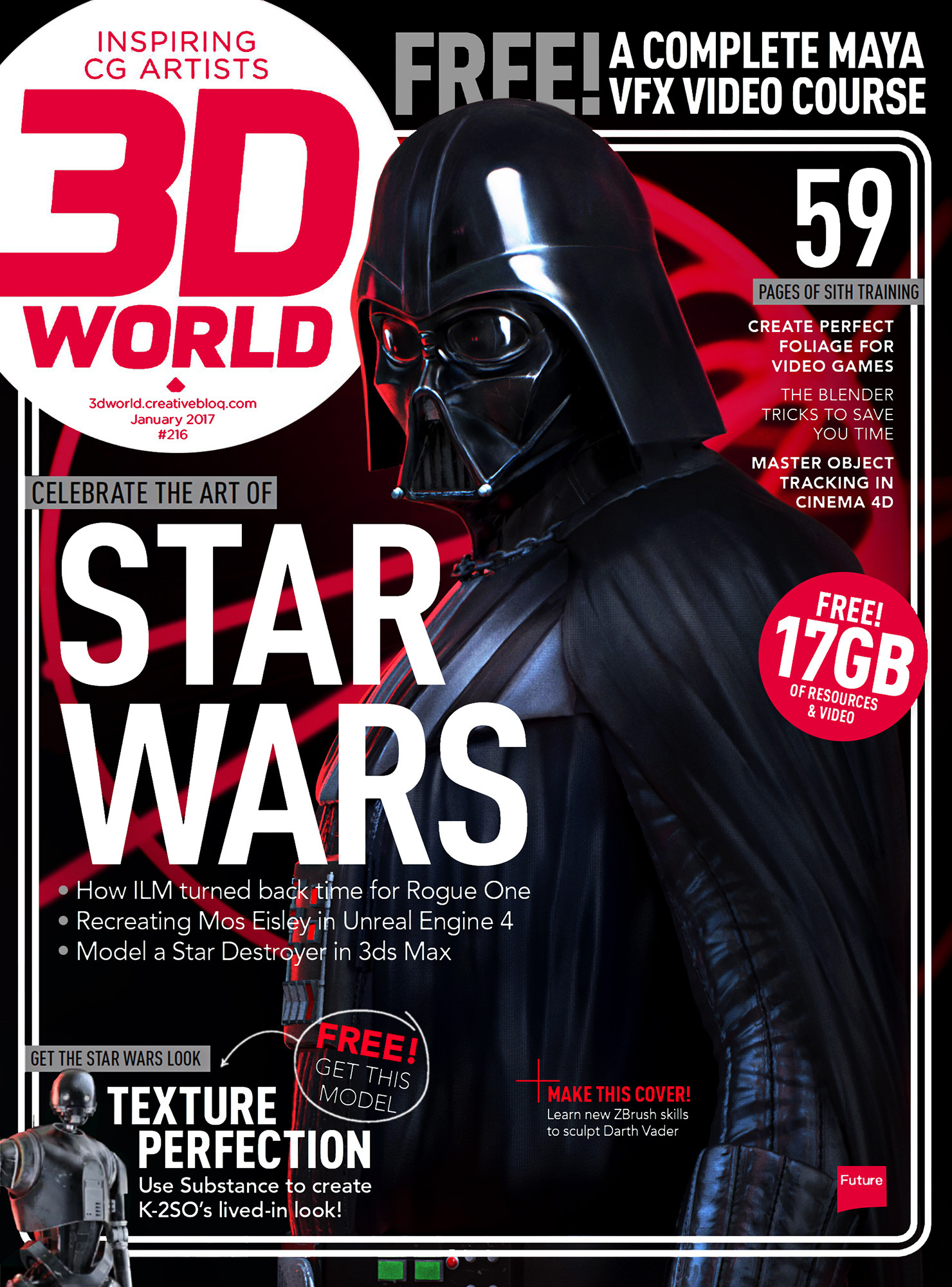 3d world Darth Vader Cover