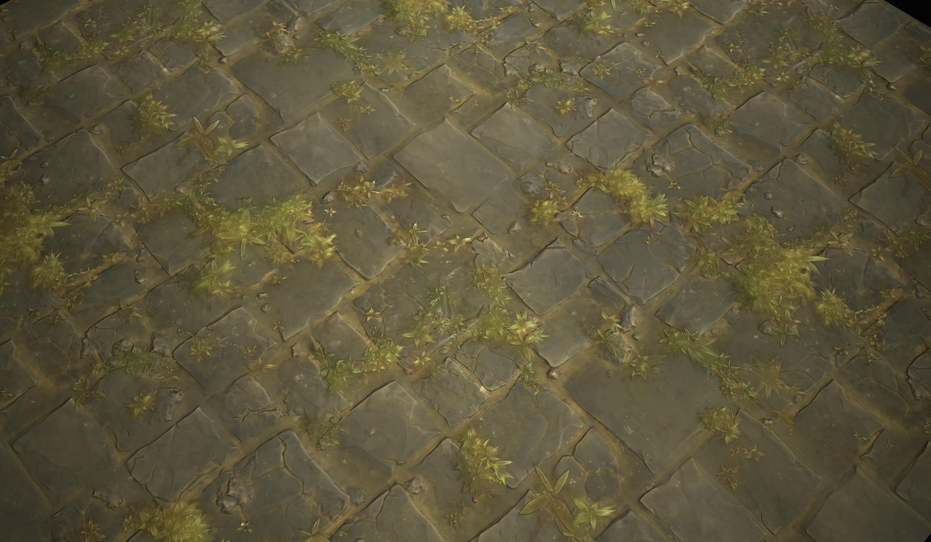 hugo beyer - stylized stone floor